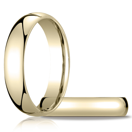 14kt Yellow Gold 5mm Heavy Comfort Fit Band