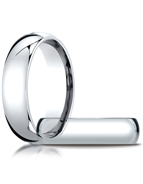 10kt White Gold 6mm Comfort Fit Wedding Band