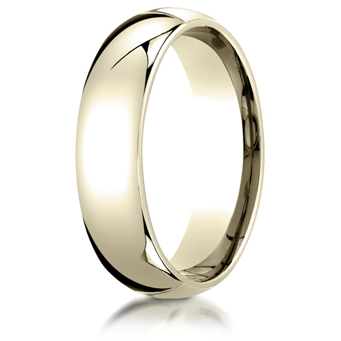 6mm Heavy Comfort Fit Band - 14k Yellow Gold