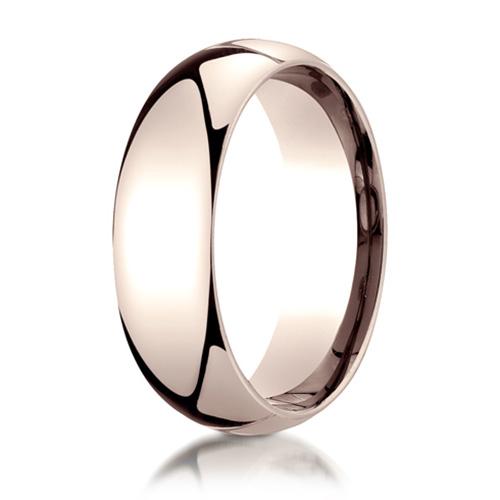7mm 14kt Rose Gold Comfort Fit Wedding Band