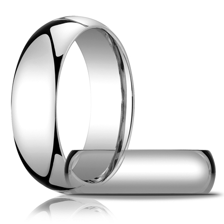7mm Heavy Comfort Fit Band - 14k White Gold