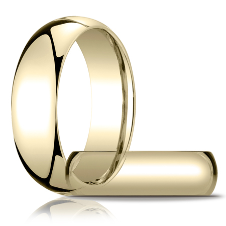 14k Yellow Gold 7mm Heavy Comfort Fit Wedding Band