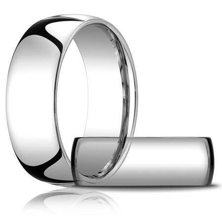 14kt White Gold 8mm Comfort Fit Wedding Band