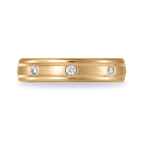 1/6 CT Diamond Band 4mm - 14k Yellow Gold
