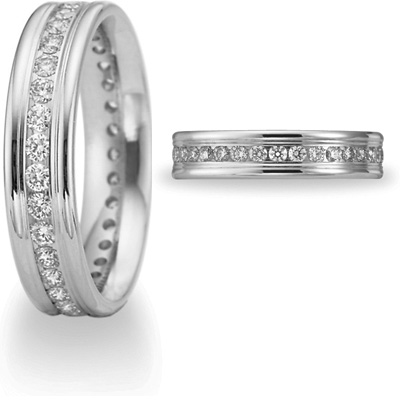 Benchmark 3/4 CT Diamond Band 4mm - 14k White Gold
