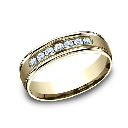 Benchmark 2/5 CT Diamond Band 6mm - 14k Yellow Gold