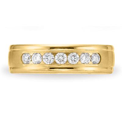 Benchmark 2/5 CT Diamond Band 6mm - 14k Yellow Gold