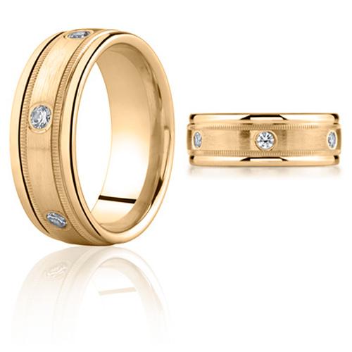 1/2 CT Diamond Band 8mm - 14k Yellow Gold