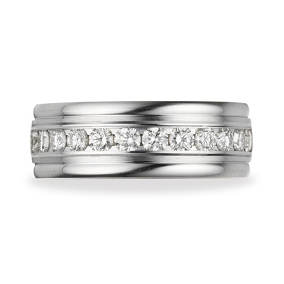 Benchmark 1 CT Diamond Band 8mm - 14k White Gold