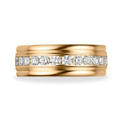 Benchmark 1 CT Diamond Band 8mm - 14k Yellow Gold