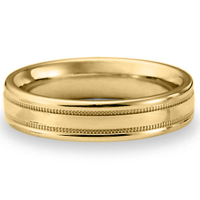14kt Yellow Gold 4mm Patterned Band