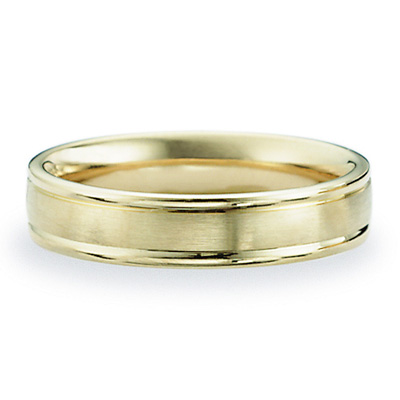 14kt Yellow Gold 4mm Satin Band with Rounded Edges
