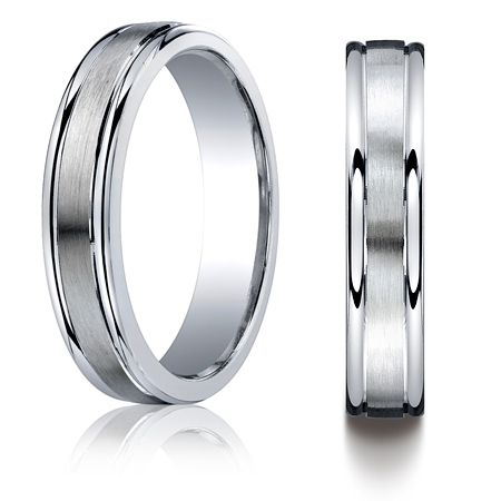 Argentium Silver 5mm Wedding Band with Polished Round Edges