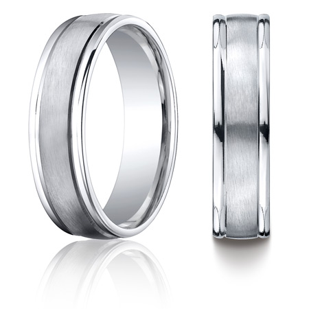 Cobalt Chrome 6mm Wedding Band with Rounded Edges
