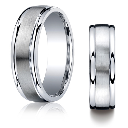 Argentium Silver 7mm Wedding Band with Polished Round Edges