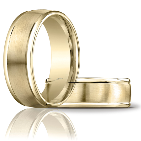 14kt Yellow Gold 8mm Satin Band with Rounded Edges