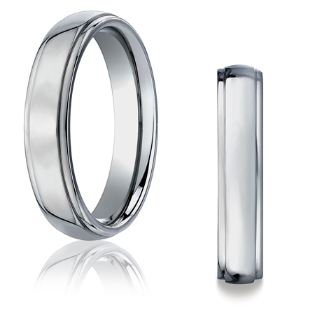 5mm Titanium Band with Stepped Edges