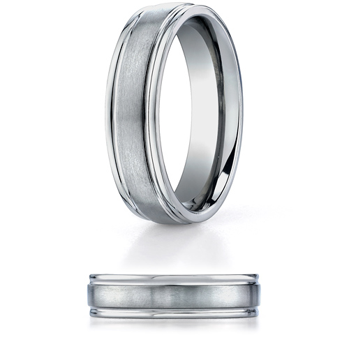 6mm Titanium Band with Brushed Center
