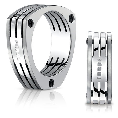 7.5mm Titanium Band with Triangular Sides
