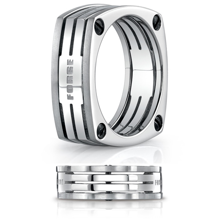7.5mm Four-Sided Titanium Band with Screw Accents