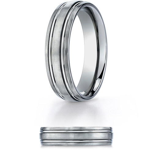 6mm Titanium Band with Polished Grooves