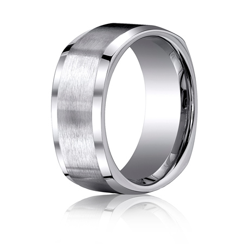 Titanium 9mm Four-Sided Wedding Band with Satin Finish