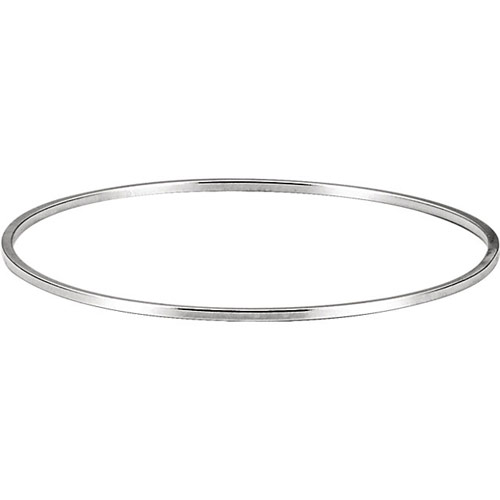 Sterling Silver 7.75in Jumbo Bangle Bracelet 1.75mm