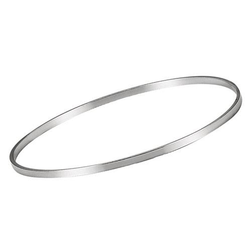 Sterling Silver 2.25mm Bangle Bracelet 7 1/4in