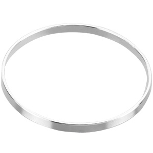 Sterling Silver 1.75mm Jumbo Bangle Bracelet