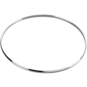 Sterling Silver 8in Bangle Bracelet 2.5mm