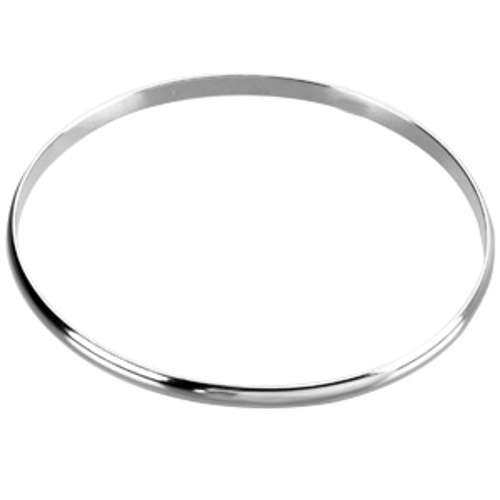 Sterling Silver 8in Smooth Bangle Bracelet 4mm