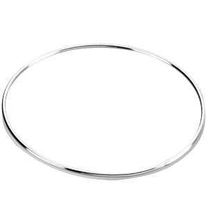 Sterling Silver 8in Thin Bangle Bracelet 1.5mm