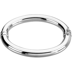 Sterling Silver 7in Hollow Hinged Bangle Bracelet
