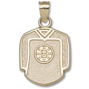 10kt Yellow Gold 5/8in Boston Bruins Jersey Pendant