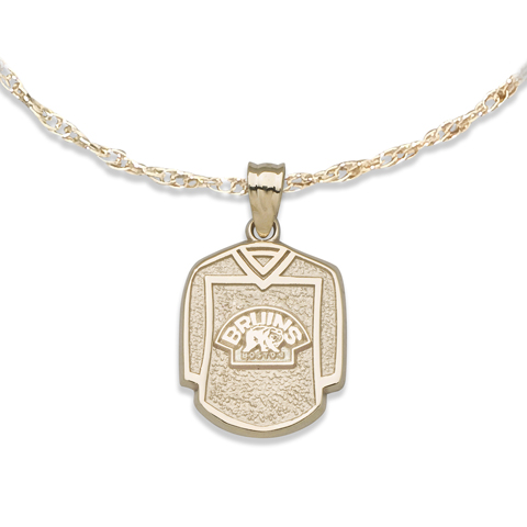 Boston Bruins 5/8in Jersey on Chain 10kt Yellow Gold