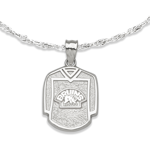 Boston Bruins 5/8in Jersey on Chain Sterling Silver
