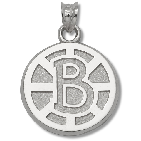 Boston Bruins 5/8in Sterling Silver