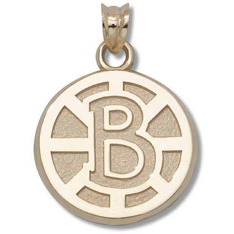Boston Bruins 5/8in 10kt Yellow Gold