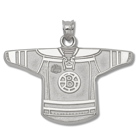 Sterling Silver 3/4in Boston Bruins Winter Classic Jersey Pendant