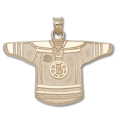 10kt Yellow Gold 3/4in Boston Bruins Winter Classic Jersey Pendant