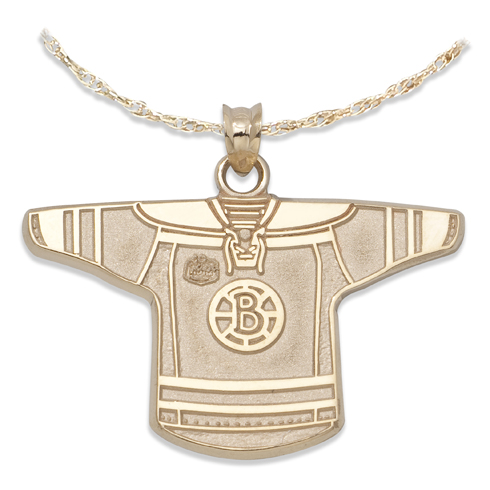 Boston Bruins 3/4in Jersey on Chain 10kt Yellow Gold