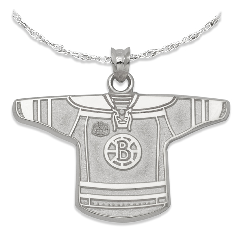Boston Bruins 3/4in Jersey on Chain Sterling Silver