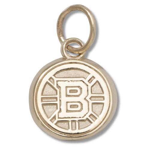 Boston Bruins 3/8in Pendant 14kt Yellow Gold