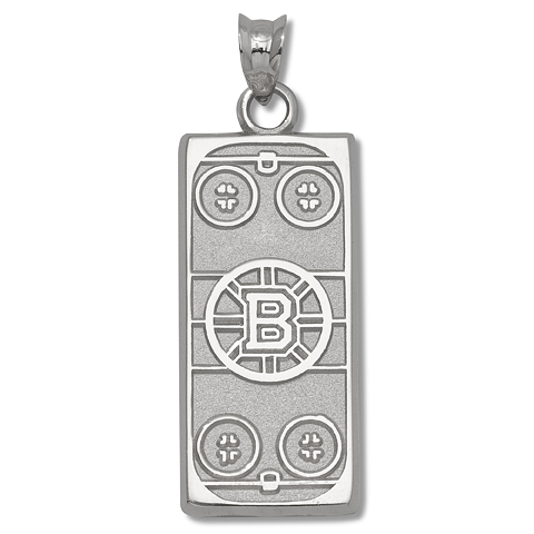 Boston Bruins Rink 1/4in Sterling Silver