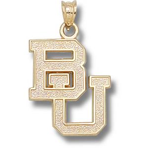 14kt Yellow Gold 3/4in Baylor University BU Pendant