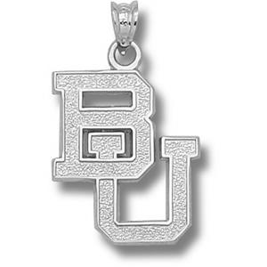 Sterling Silver 3/4in Baylor University BU Pendant