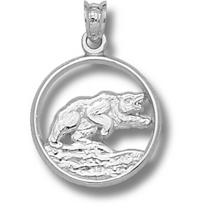 Baylor Bears 5/8in Sterling Silver Bear Pendant