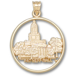 Baylor Bears 1in 10k Patneff Hall Pendant