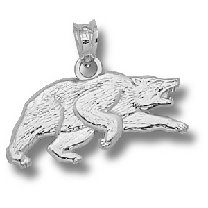 Baylor Bears 1/2in Sterling Silver Running Bear Pendant
