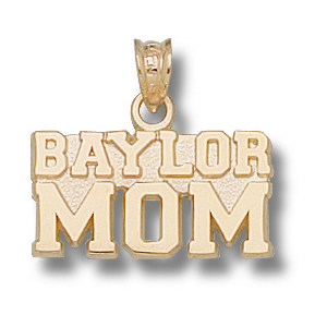 14kt Yellow Gold 3/8in Baylor Mom Pendant